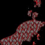 grafika lustruje tancerkę w długiej sukni