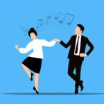 Para tańczy w rytm muzyki