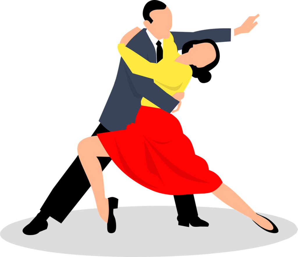grafika pokazuje tańczącą parę